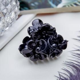 Краб для волос 'Черный' 4 см соцветие Ош