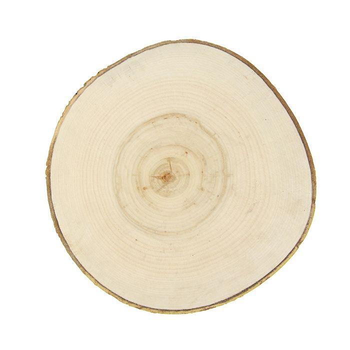 Спил осины, шлифованный с одной стороны, диаметр 30-35 см, толщина 2-3 см