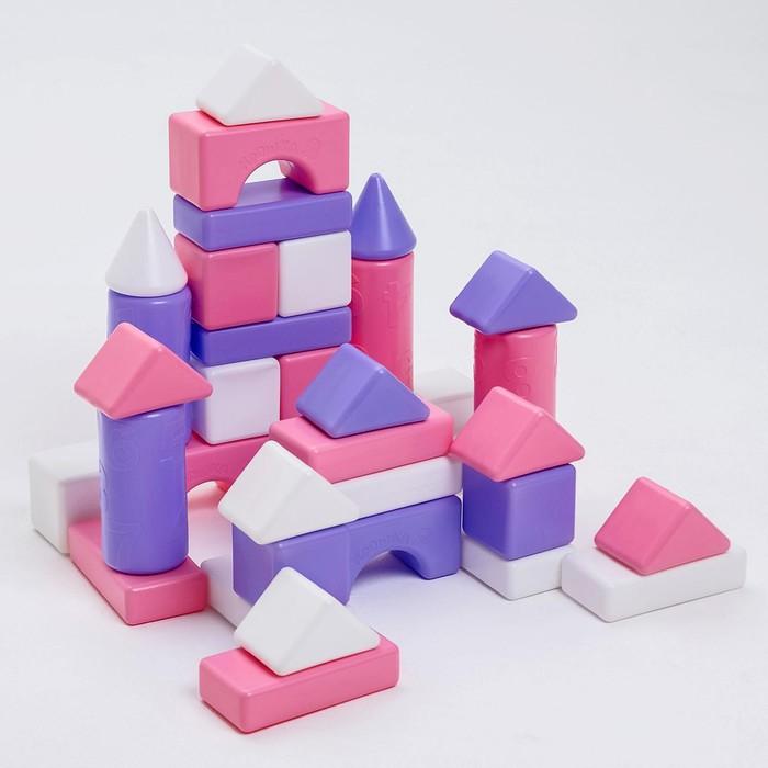 Строительный набор, 36 элементов, 60*60, цвет розовый