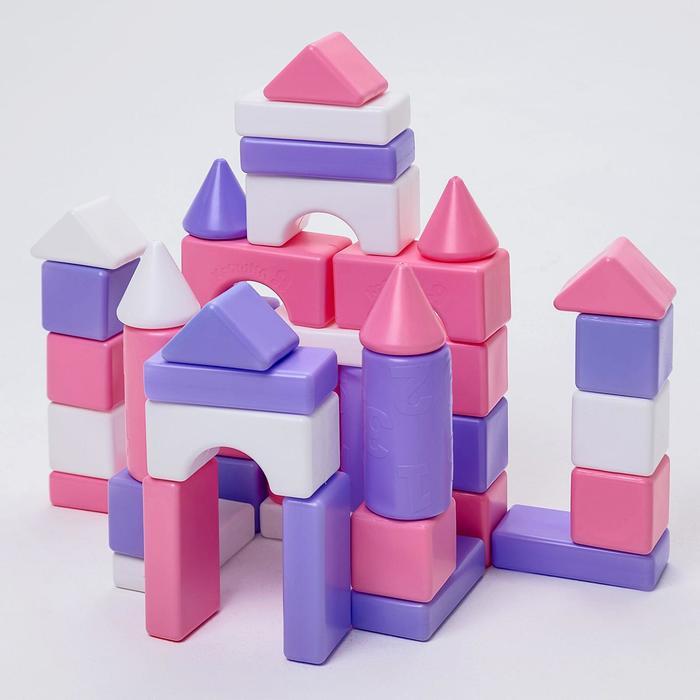 Строительный набор, 41 элемент, 60*60, цвет розовый