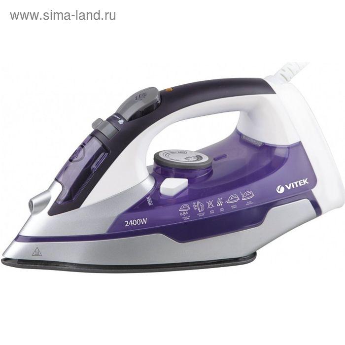Утюг Vitek VT-1257 VT, 2400 Вт, керамическая подошва, фиолетовый