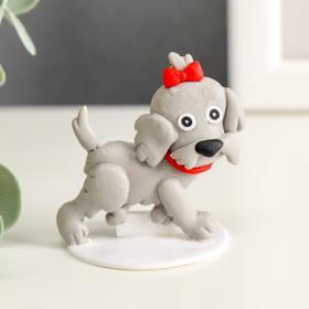 """Souvenir polymer clay """"Dog Lady"""" 4,3x4,5 cm"""