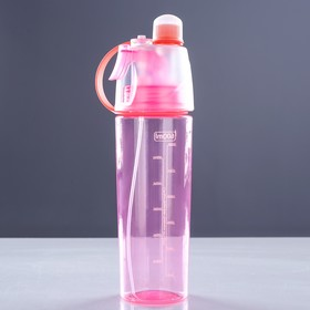 Бутылка для воды спортивная с пульверизатором, 700 мл, микс Ош