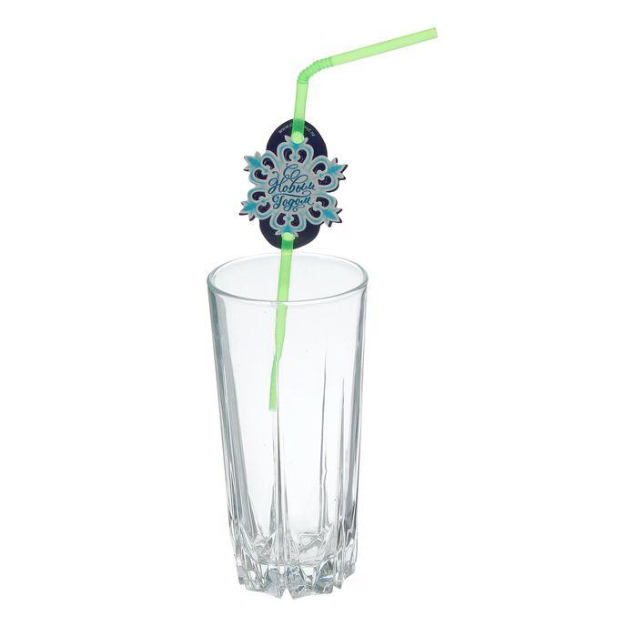 """Трубочка для коктейля """"Снежинка"""", набор 6 шт."""