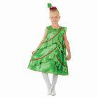 """Карнавальный костюм """"Ёлочка атласная"""", платье, ободок, р-р 30, рост 116 см"""