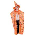 "Костюм ""Чародея"" плащ, шляпа, оранжевый длина 120"