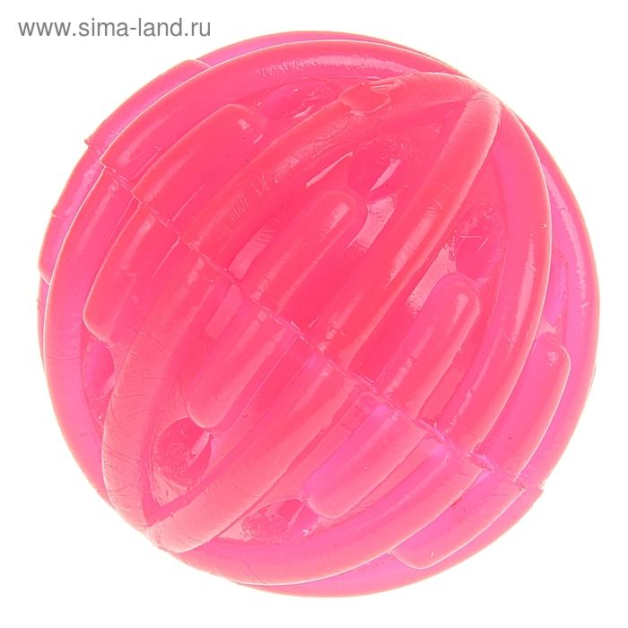 """Мяч """"Ежик"""" световой с дырками, цвета МИКС"""