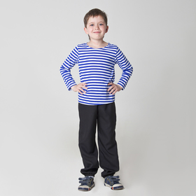 Карнавальная тельняшка-фуфайка военного, детская, р. 30, рост 110 см
