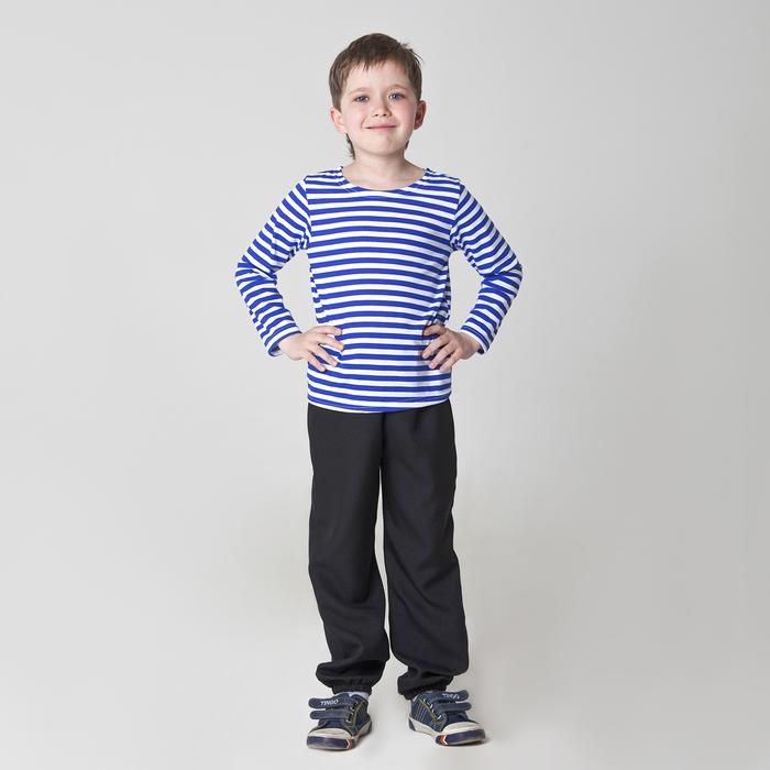 Карнавальная тельняшка-фуфайка военного, детская, р. 34, рост 128 см - фото 105522176