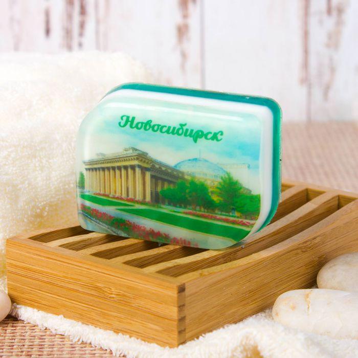 Мыло натуральное с картинкой «Новосибирск» (ручная работа)