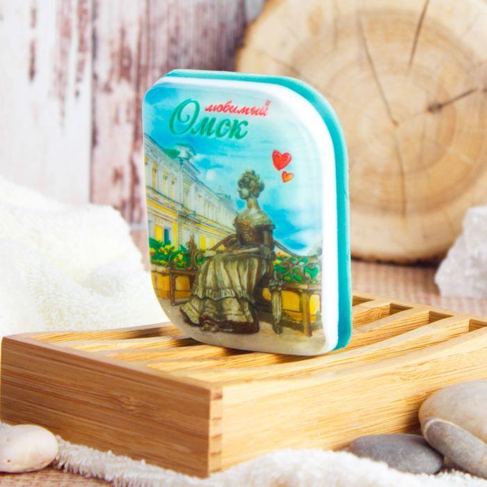 Мыло натуральное с картинкой «Омск» (ручной работы)