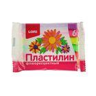 """Пластилин 6 цветов 72г """"Флюоресцентный"""""""