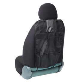 Organizer on the seat back TORSO, 7 pockets, 600x370 mm, black.