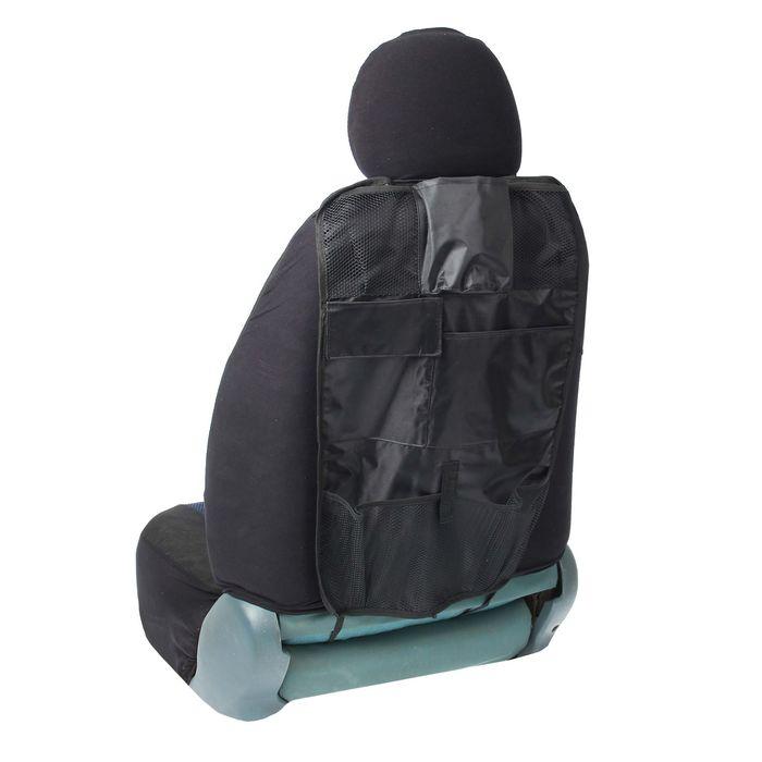 Органайзер на спинку сиденья TORSO, 7 карманов, 600х370 мм, черный