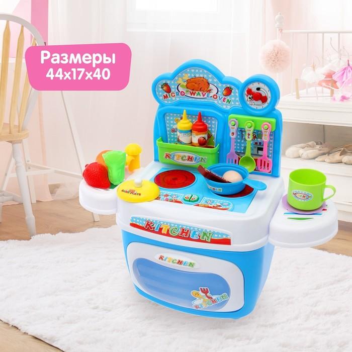 Игровой модуль «Мини кухня» с аксессуарами в чемодане, световые и звуковые эффекты
