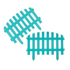 Ограждение декоративное, 35 × 210 см, 5 секций, пластик, бирюзовое, RENESSANS, Greengo