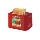 Тостер Centek CT-1425, 750 Вт, на 2 тоста, 6 ур. мощности, красный