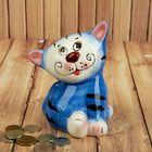 """Копилка керамика """"Котёнок улыбка"""" 12,5х10х10 см"""