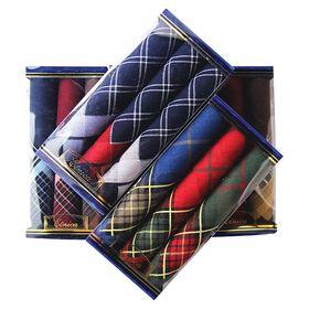 Набор мужских носовых платков в коробке (3шт) ЭТНИКА, Арт.Пд28, 40х40, х/б