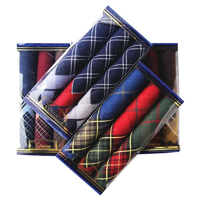 Набор мужских носовых платков в коробке (3шт) ЭТНИКА, Арт.Пд28, 40х40, х/б - РусЭкспресс