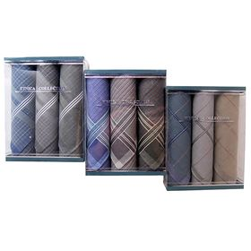 Набор мужских носовых платков в коробке ЭТНИКА, 40х40, 3 шт. х/б