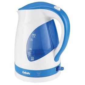 Чайник электрический BBK EK1700P, 2200 Вт, 1.7 л, подсветка, бело-голубой