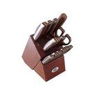 Набор ножей 15 предметов Stahlberg, на деревянной подставке с резиной