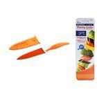 Нож универсальный Gipfel Picnic, оранжевый в пластиковом чехле, 10 см