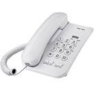 Проводной телефон TeXet TX-212, регулировка громкости вызова, светло-серый