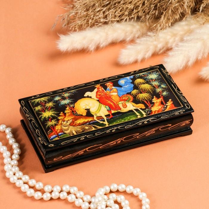 Шкатулка - купюрница «Сказка», 8,5×17 см, лаковая миниатюра