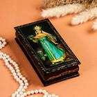 Шкатулка - купюрница «Сказки», 8,5×17см, лаковая миниатюра