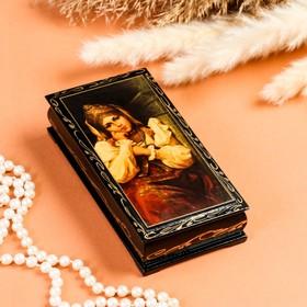 Шкатулка - купюрница «Русская красавица», 8,5×17 см, лаковая миниатюра