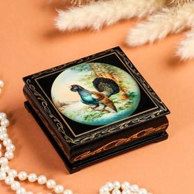 """The box """"cold case"""", 10×10 cm, lacquer miniature"""