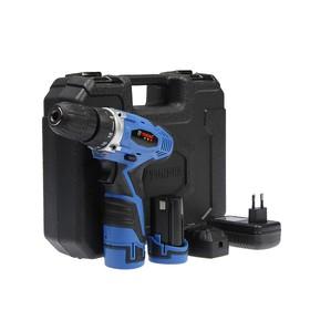 Дрель-шуруповерт TUNDRA comfort аккумуляторный, 12V, 0-550/0-1250 об/мин, 1300mA, DSHA-004-12-04