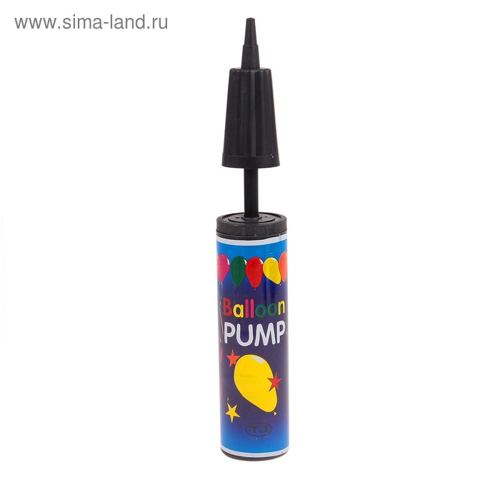 Pump for balloons, 28cm, MIX color