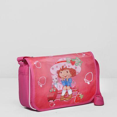 Сумка детская на клапане, 1 отдел, длинный ремень, цвет розовый