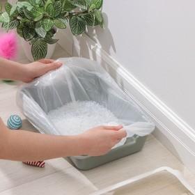 Пакеты для кошачьих лотков 45×30×29.5 см Grifon, ПНД, толщина 15 мкм, 10 шт