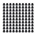 Набор колпачков для краски черных с плоским основанием, 100 шт., 13 мм