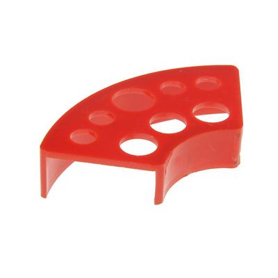 Подставка под колпачки с краской, красная