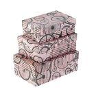 """Набор коробок 3в1 """"Моноциклы на розовом"""" 19 х 12 х 7,5 - 15 х 10 х 5 см"""