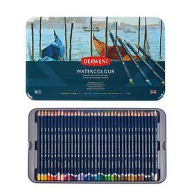 Карандаши акварельные набор 36 цветов, Derwent Watercolour,  в металлическом пенале