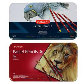Пастель сухая художественная в карандаше, набор Derwent Pastel Hard 36 цветов, в металлической упаковке