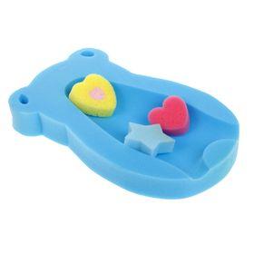Набор для купания и игры в ванной, 4 предмета: поролоновый матрас, губки, 3 шт., МИКС