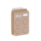 MP3 плеер RITMIX RF-2500 4Gb, кнопочное управление, клипса, card slot, цвет золото