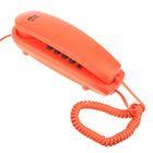 Проводной телефон RITMIX RT-005, настольно-настенный, Hi-Low, отключение микрофона, оранжев.