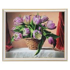 "The painting ""Basket of tulips"" 38*31 cm"