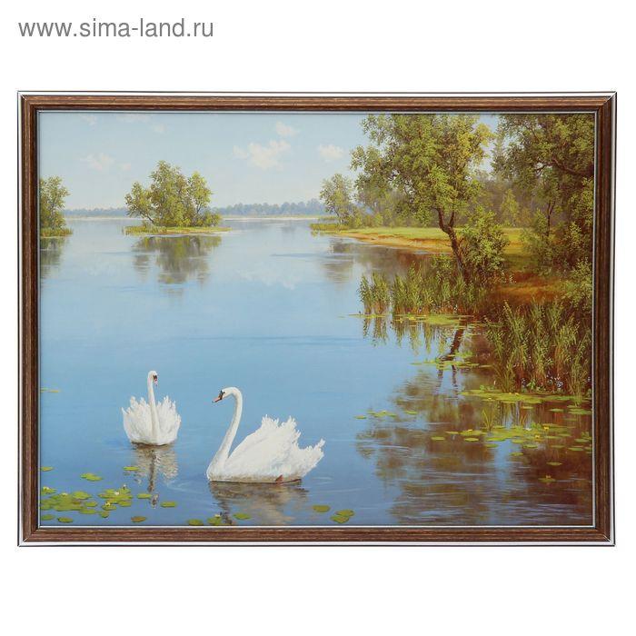 """Картина """"Лебеди"""" 42*52 см"""