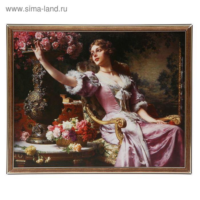 "Картина ""Дама с цветами"" 42*52 см"