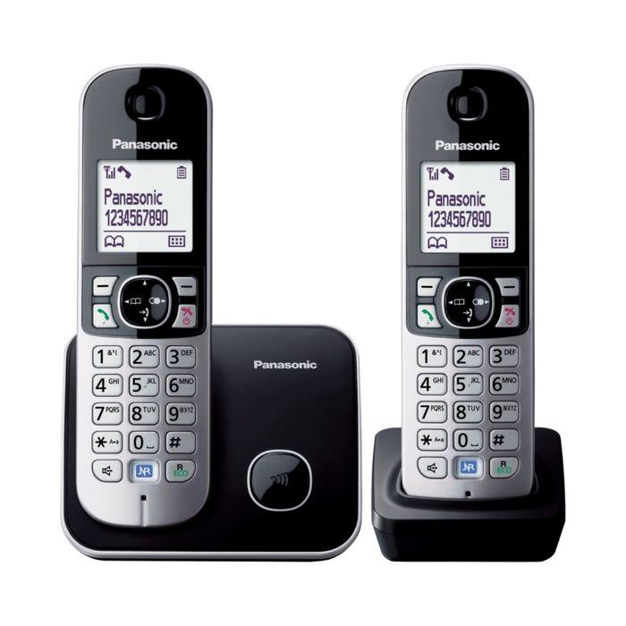 Телефон Panasonic KX-TG6812 RUB DECT, комплект из базы и 2 трубок, полифония, громкая связь   253167