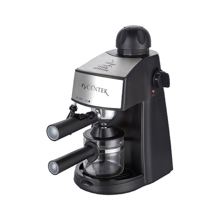Кофеварка Centek CT-1160, рожковая, 800 Вт, 0.24 л, чёрная